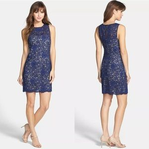 Trina Turk Bissitti Blue Floral Lace Dress